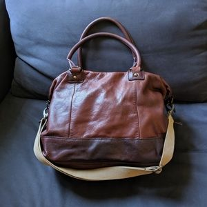CYNTHIA ROWLEY large calfskin leather bag